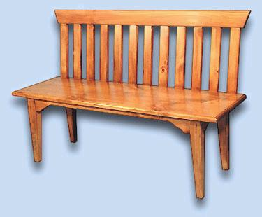 Pine Shaker Meeting House Bench